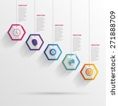 infographic with hexagons on... | Shutterstock .eps vector #271888709