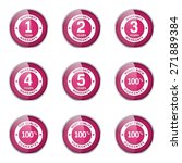 warranty guarantee seal pink... | Shutterstock .eps vector #271889384