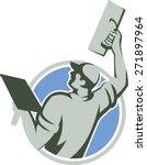 illustration of a plasterer... | Shutterstock .eps vector #271897964