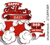 fathers day design over white... | Shutterstock .eps vector #271899389