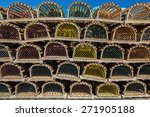 Stack Of Lobster Traps On A...