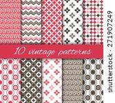 set of vintage patterns in pink ... | Shutterstock .eps vector #271907249