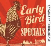 Retro Early Bird Specials Sign...