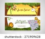 jungle safari banner or website ...   Shutterstock .eps vector #271909628