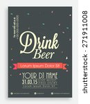 drink beer template or flyer... | Shutterstock .eps vector #271911008