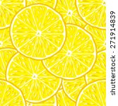 lemon slice seamless vector... | Shutterstock .eps vector #271914839