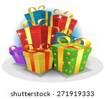 happy birthday gifts pack ... | Shutterstock .eps vector #271919333