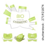 bio cosmetic labels isolated on ... | Shutterstock .eps vector #271921874