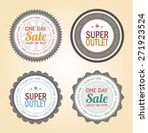 set of sale labels with text on ... | Shutterstock .eps vector #271923524