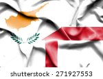 waving flag of england and... | Shutterstock . vector #271927553