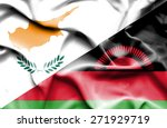 waving flag of malawi and cyprus | Shutterstock . vector #271929719