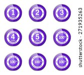 warranty guarantee seal violet... | Shutterstock .eps vector #271935263