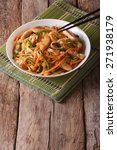 chow mein with chicken and... | Shutterstock . vector #271938179
