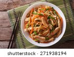 chow mein  fried noodles with... | Shutterstock . vector #271938194