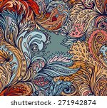 beautiful ornate floral paisley ... | Shutterstock .eps vector #271942874