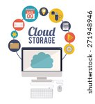 cloud storage design over white ... | Shutterstock .eps vector #271948946