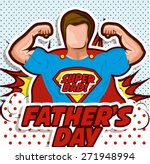 fathers day design over pointed ... | Shutterstock .eps vector #271948994