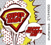 fathers day design over pointed ... | Shutterstock .eps vector #271949000