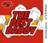 fathers day design over red... | Shutterstock .eps vector #271949969