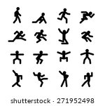 human action poses. running and ... | Shutterstock . vector #271952498