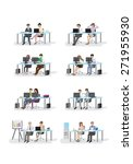 business people  different... | Shutterstock .eps vector #271955930