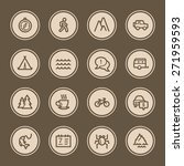 travel web icons set | Shutterstock .eps vector #271959593