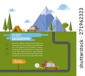 family traveling in car.... | Shutterstock .eps vector #271962323