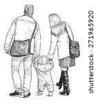 young family on a walk | Shutterstock . vector #271965920