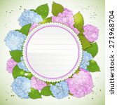 Floral Decorative Card With...
