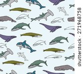 colored whales pattern in vector | Shutterstock .eps vector #271968758