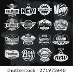 set of chalkboard banners... | Shutterstock .eps vector #271972640