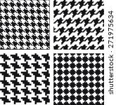 monochrome geometric pattern | Shutterstock .eps vector #271975634