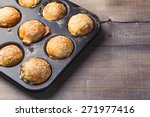 Salty Muffins In A Baking Pan