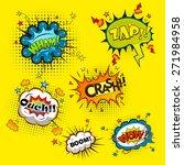 comic speech bubbles... | Shutterstock . vector #271984958