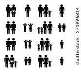 family icons set vector... | Shutterstock .eps vector #271996814