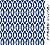 seamless porcelain indigo blue... | Shutterstock . vector #271999250