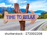 time to relax wooden sign with... | Shutterstock . vector #272002208