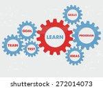 learn  goal  train  test ... | Shutterstock .eps vector #272014073