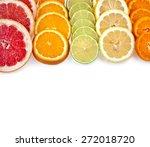 slices citrus mixed  top view... | Shutterstock . vector #272018720