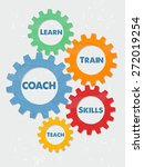 coach  learn  train  skills ... | Shutterstock .eps vector #272019254
