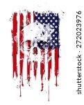 Skull On American Flag...