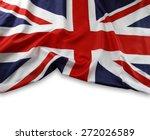 union jack flag on plain... | Shutterstock . vector #272026589