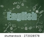 education concept  chalk blue... | Shutterstock . vector #272028578