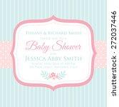 baby shower | Shutterstock .eps vector #272037446