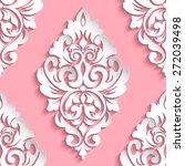 vector damask seamless pattern... | Shutterstock .eps vector #272039498