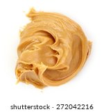 Peanut Butter Isolated On Whit...