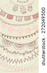 hand drawn vector garlands and... | Shutterstock .eps vector #272049500