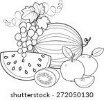coloring fruit | Shutterstock .eps vector #272050130