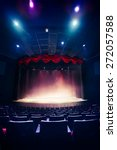 theater curtain and stage with... | Shutterstock . vector #272057588