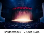 Theater Curtain And Stage With...